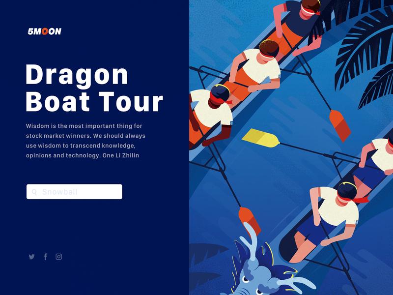DRAGON BOAT TOUR logo icon dog illustration branding winter ui travel nature love web light landscape illustration design art