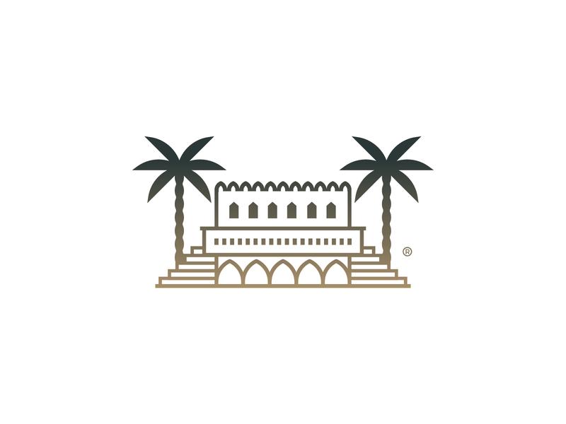 Arabian House illustration arabian tree house mark icon design brand logo branding
