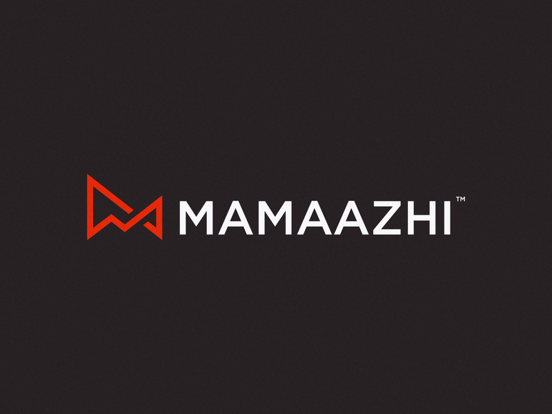 MAMAAZHI marketing analysis red sketches sketch minimal m logo mark icon design brand logo branding