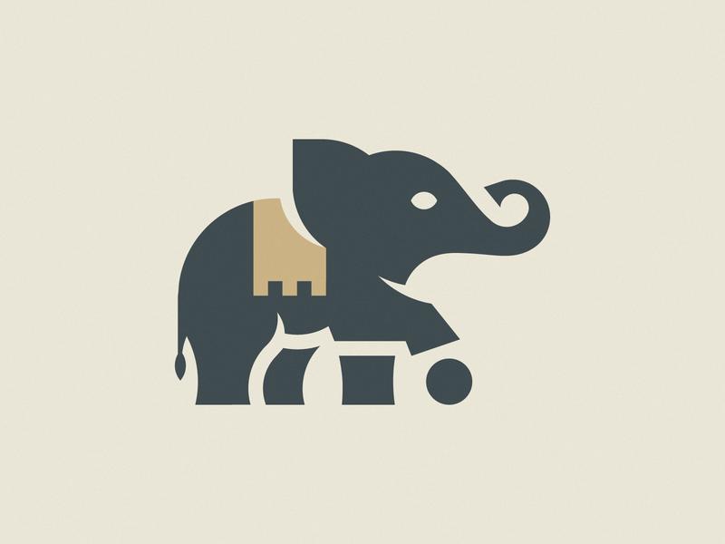 LITTLE ELEPHANT luxury gold golden goldenratio golden ratio animal illustration mark icon branding design brand logo elephant