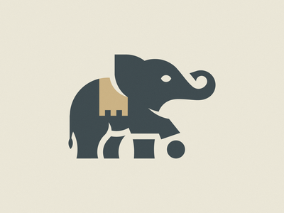 LITTLE ELEPHANT luxury gold golden goldenratio golden ratio animal illustration mark icon branding design brand logo elephant