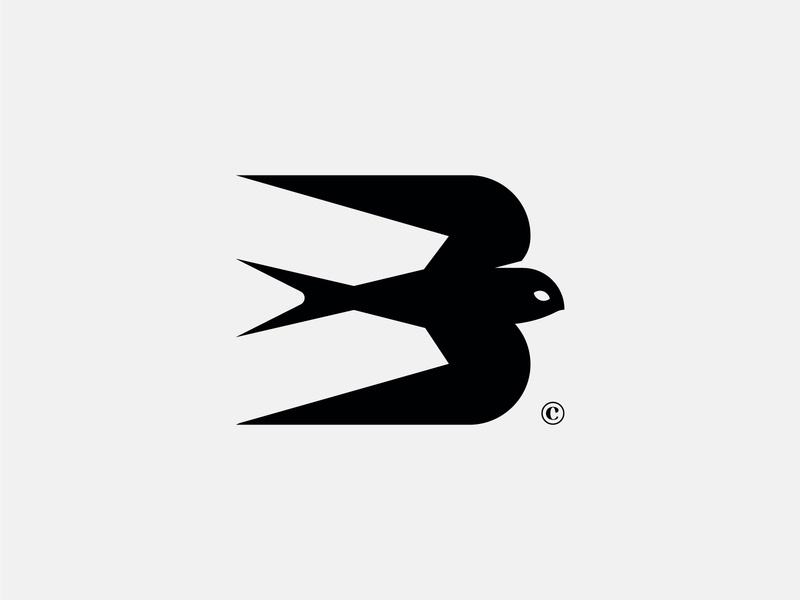Swift Capital® print swift ebabil bird black animal mark icon brand logo branding