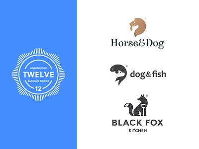 LogoLounge Book 12 logolounge kitchen fish horse fox dog negative space animal mark design brand logo branding