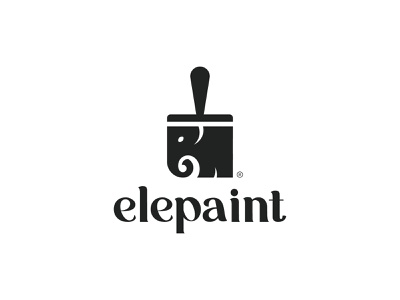 Elepaint logo animal mark elephant logo elephant branding