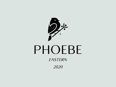 PHOEBE 2020 bird logo bird black animal mark logo branding