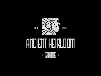 ANCIENT HEIRLOOM GRAINS aztec mark brand logo branding