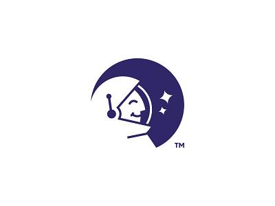 Memesplorer spaceman space explorer explore memes astronaut mark design logo branding