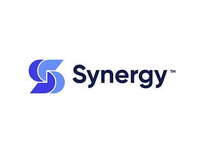 Synergy mark synergy s s logo logo branding