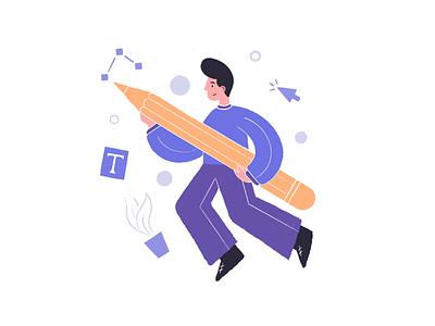 Designer designer graphic design art pencil pen illustration