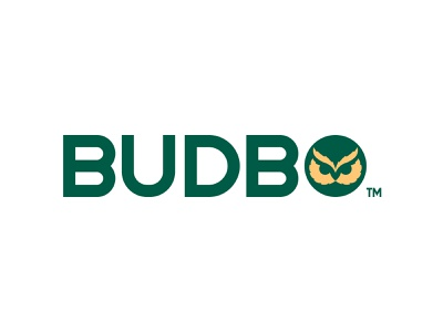 Budbo(First Option) cannabis logo cannabis golden ratio goldenratio hemp cbd owl negative space animal icon mark logo branding