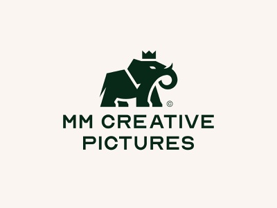MM CREATIVE PICTURES V1 king logo king golden ratio animals elephant print icon brand mark logo branding