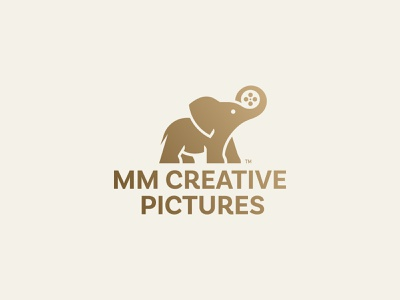 MM CREATIVE PICTURES V2 logo film movie production elephant branding
