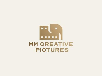 MM CREATIVE PICTURES v3 animal film production elephant brand icon design mark logo branding