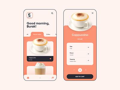 Coffee Shop App product graphic design ui shop coffee ux mobile app