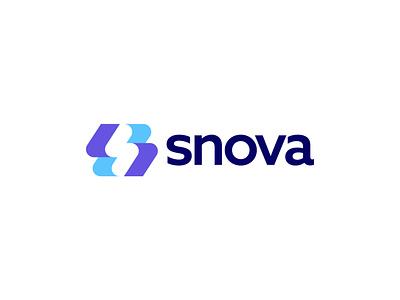 Snova design brand icon graphic design startup tech mark logo branding