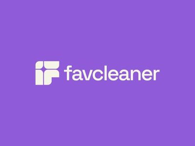 Favcleaner® mop cleaner stratup cleaning f f letter icon design brand mark logo branding