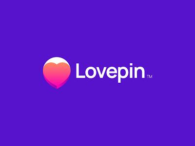 Lovepin heart red location pin place hangout dating dating app meet friendship match love branding