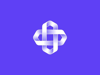 Unused logo mark crypto cryptocurrency blockchain chain plus purple tech financial technology icon design logo branding fintech