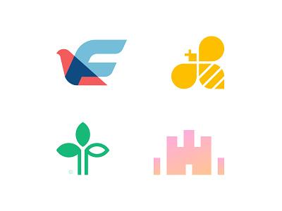 Logo Marks 1 2 3 4 5 6 7 8 9 0 a b c d e f g h i j k l m n creative podcast tree leaf finance financial fintech capital bird icon brand mark logo branding