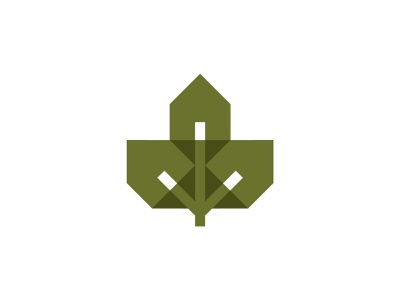 Naturehome nature houses real estate property home house leaf mark logo branding