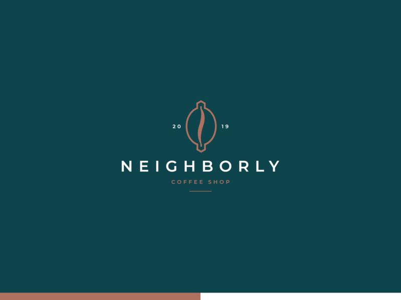 NEIGHBORLY COFFEE SHOP mark branding brand coffee bean way house creative design creative coffee shop coffeehouse coffee