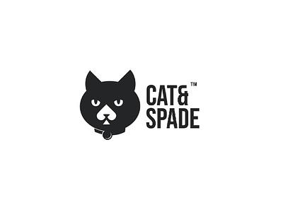 Cat and Spade animal logo logo design branding brand cartoon spade logo cat logo