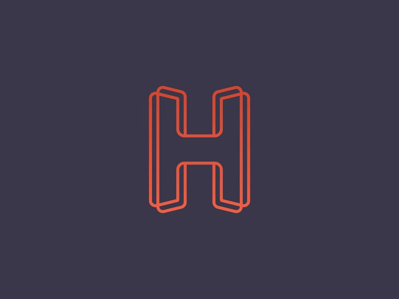 Unused H concept print h mark h logo mark design icon branding brand