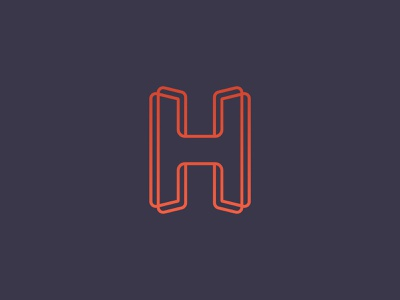 Unused H concept print h mark h logo mark design icon branding brand