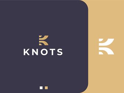 KNOTS mark design icon logo shoes k k logo golden logo golden luxury print brand branding