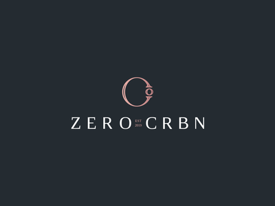 ZERO CRBN print c logo luxury logo luxury jewelry logo jewelry mark design icon branding brand logo