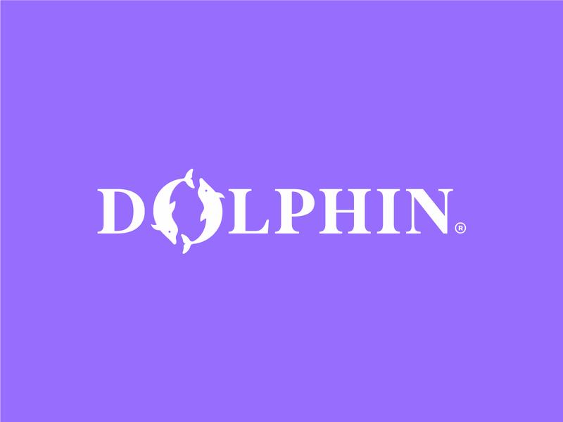 DOLPHIN sea ocean wordmark logo wordmark icon animal dolphin logo brand design print branding
