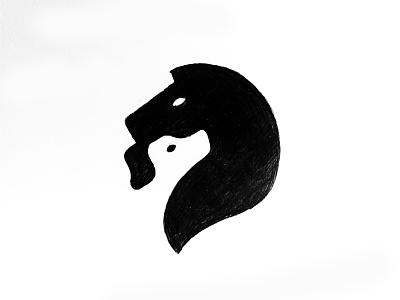 Dog&Horse print smart creative blackandwhite white black dog horse animal negative space negativespace mark icon design branding