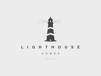 LIGHTHOUSE HOMES icon homes home lighthouse mark print branding logo