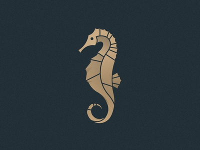 Seahorse animal golden ratio golden seahorse design icon brand branding logo