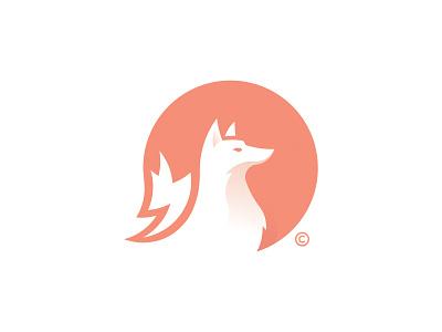 Fox print animal negativespace negative space fox logo fox design icon brand branding logo