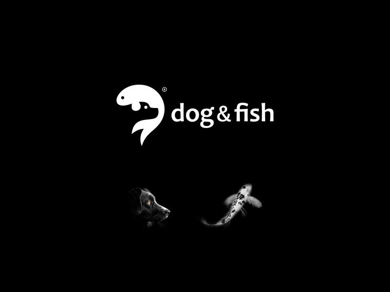LOGOFOLIO vol. 01 negative space dog logo fish dog mark design icon brand logo branding