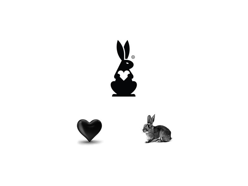 LOGOFOLIO vol. 01 heart rabbit mark design icon brand logo branding