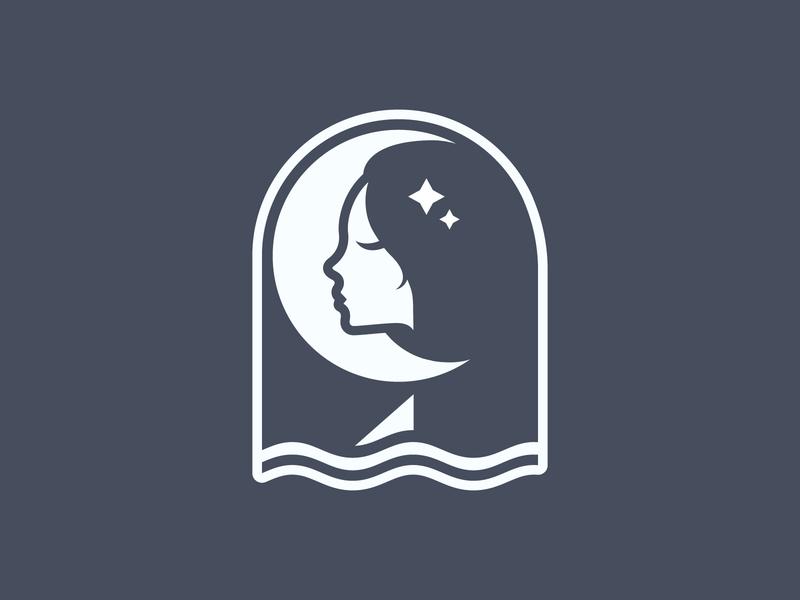 Selene mark print woman goddess moon branding