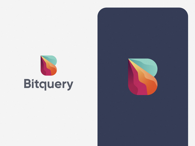 Bitquery colorful b b logo tech brand guideline brand guide data power blockchain mark design icon brand logo branding