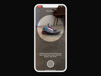 Visual Search ios app animation nike interface interaction ux ui shoe shoe search visual search machine learning vision motion machinelearning