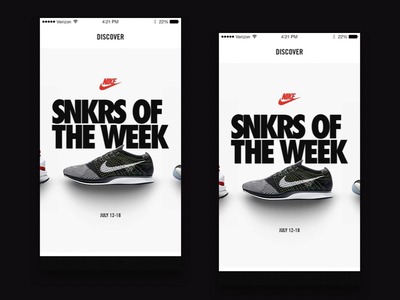 SNKRS - Pull to Refresh app animation transition ios after effects interface interaction ux ui motion