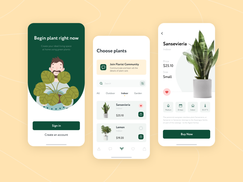 "Mobile App ""Shop Flowers"" plants green uidesign mobile flowershop flowers android ios design uiux ui"