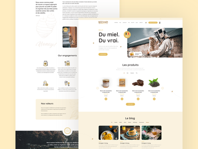 Bess-Api honey bee honey web clean webdesign website online shop design ui ux