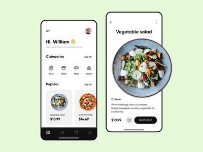 Food Delivery App clean uidesign ios mobile interface mobile app app design ux ui