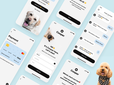 Cooper ios animal interface mobile app mobile design ux ui