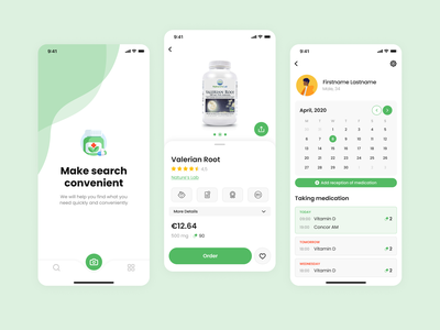 Pharm Helper uidesign pharmacy mobile app ios ux uiux interface clean mobile ui design