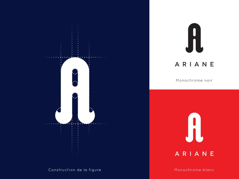 Ariane | logo typographie typografy typo logo logo typography logotype logo presentation logo designs logo design logo vector illustrator design construction logo