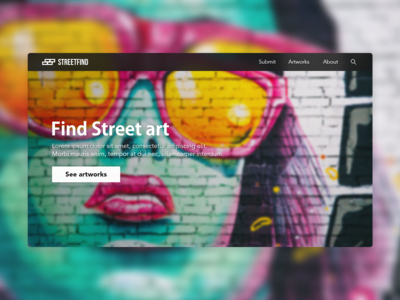 Streetfind | Landing page