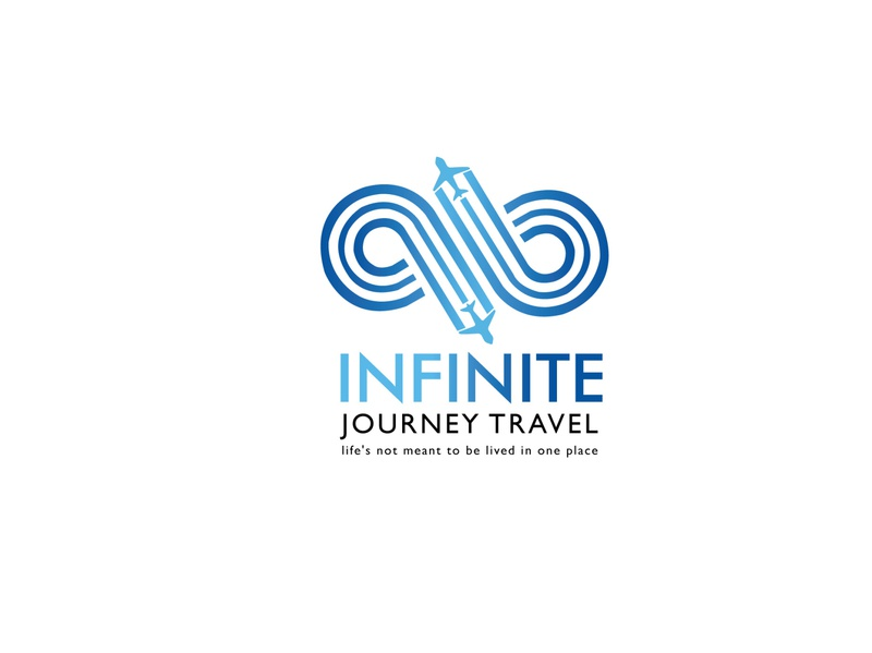 Infinite travel logo design hotel leisure tourism travel illustration branding icon logo design vector