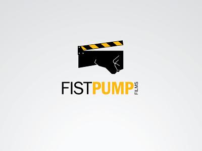 Production house logo pump cinema film movie fist clapper illustration branding icon logo design vector